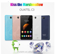 "Original latest OUKITEL C3 Mobile phone 5"" HD IPS Android 6.0 MTK6580 Quad Core 3G WCDMA smart phone 5MP dual sim 1GB + 8GB"