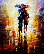 GZ645- 40*50 sweet love under the umbrella pictures for fabric painting
