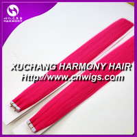 Two tone colored Indian remy tape hair extensions/30 inch remy tape hair extensions/ombre remy tape hair extensions