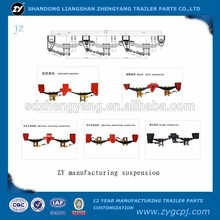 DONGFENG Trailer Parts Use Truck Trailer Suspension , remote control truck trailer