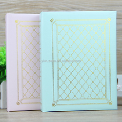 The hot stamping PU cover photo album with 4R/5R 100 photos