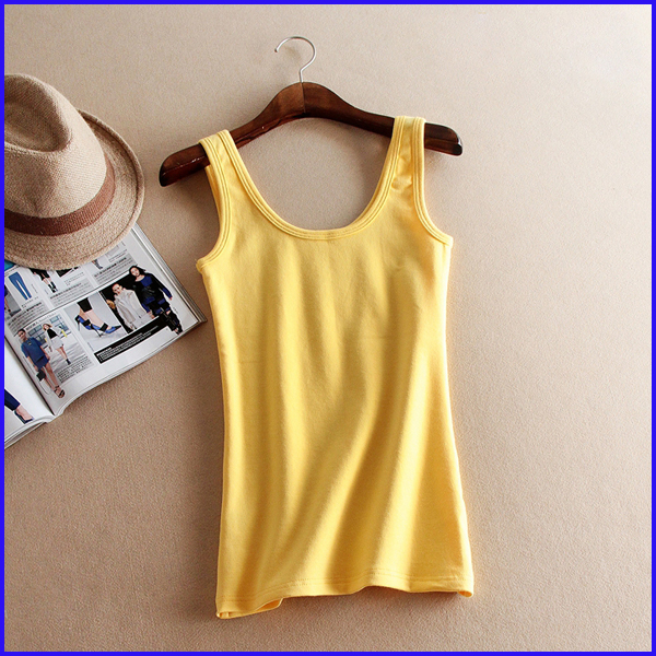 2016 colorful fitness round neck ladies tank top wholesale bodybuilding tank top