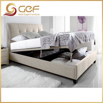 Bed Room Furniture Wooden Box Bed Design   2017