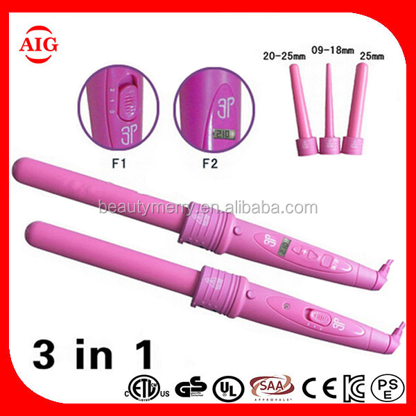 Beauty Merry 2016 High Quality New Magic Professional Lcd Digital Hair Curler Professional Interchangeable Ceramic Curling Irons