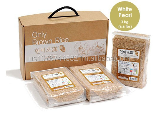 Riceborn USA, Brown Rice. White Pearl 3kg (6.6lbs) GIFT BOX