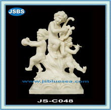 natural stone carved outdoor children garden statues