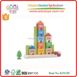 EN71 Conform Wonderworld City Skyline Solid Wood Bulding Block Set