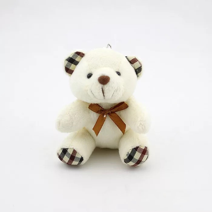 Factory price 10cm Teddy Bear Plush Toys Soft Plush Stuffy Dolls New Christmas Gift