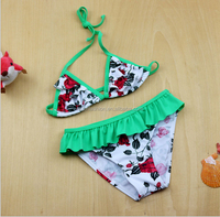 TF-02160511019 flower girl bikini swimwear bikinis swimwear kids swimwear children swimsuit sexy children swim suit