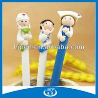 Novetly Doctor And Nurse Design Cartoon Polymer Clay Ball Pen For Gifts
