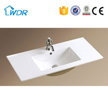 Different Size simple design one piece bathroom vanity top sink