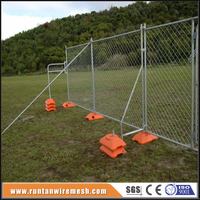 Galvanized chain link removable fence
