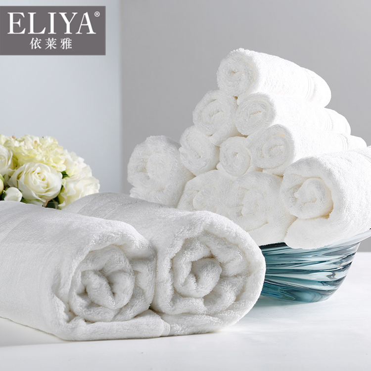 5 Star Luxury 16s 21s Custom Logo Turkish 100% Cotton White Face Bath Hand Spa towels for hotel