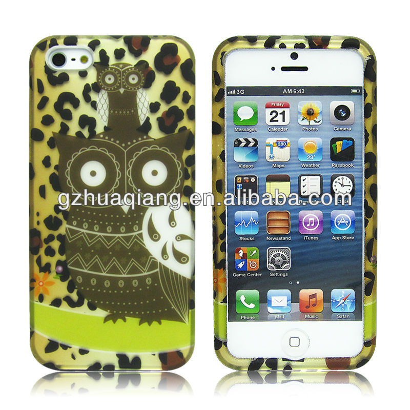 2in1 hard pc case factory price china supply waterproof water print high quality plastic case for iphone 5c 5s 4s
