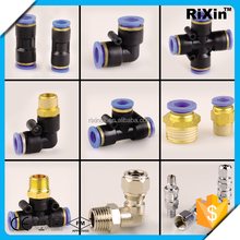 RX-1056 new arrive hydraulic quick release coupling pvc quick coupling plastic quick cross