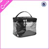 transparent toilet case clean pvc round cosmetic box from guangzhou factory