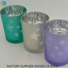 2017 new Exotic Wedding centerpiece table Star Lanterns glass scented candle holder