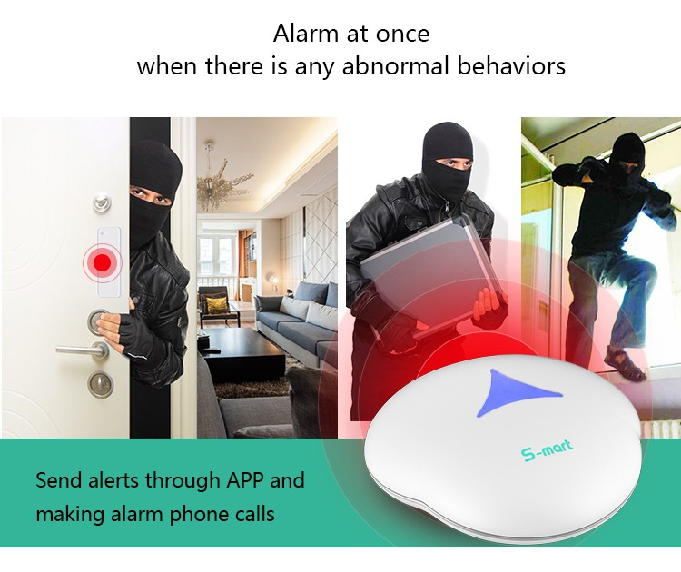 2017 868mhz and LoRa long range and two way home security wifi alarm system GS-S3