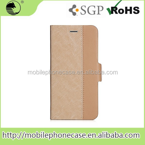 Newest Design Real Leather Phone Case For Samsung Note 5 Edge gold color