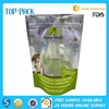 Food use laminated stand up plastic packaging bag pouch for pet treat