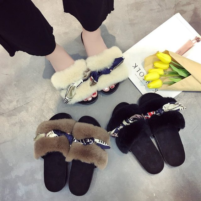 QX4085 The new autumn/winter slippers korea style flat shoes