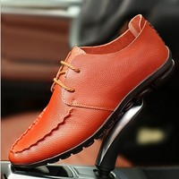 W10193C 2015 men leather loafers shoes