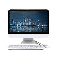 "21.5"" cheap touch screen LCD Thin fanless desktop computer micro mini all in one pc"