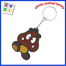 cheap giveaway reflective pendant toy plastic pvc keychain