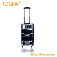 Wholesale outdoor wooden trolley speaker with FM RADIO /BLUETOOTH
