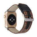Grid pattern color Genuine Leather Band for Apple Watch 38mm/42mm,for apple watch leather band