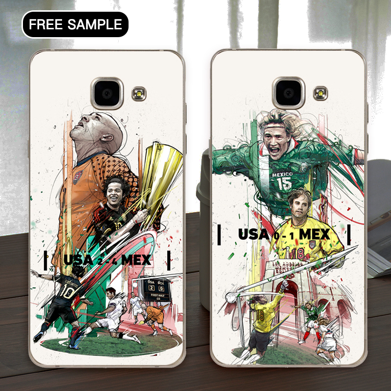 Free sample New Coming football players Phone case for samsung A8 cellphone 3d phone case Factory price with L/C