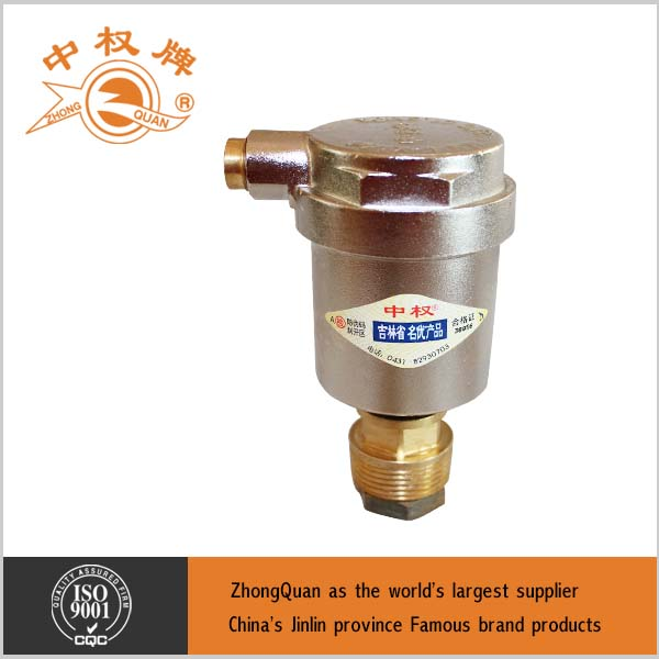 high quality hydraulic system brass material ball float air vent valve