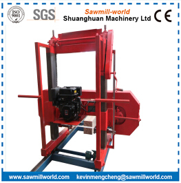 Lumber Cutting Mobile Horizontal Band Saw Mill With Diesel Engine