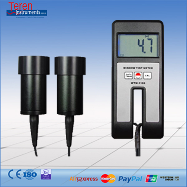 Portable LCD Light Transmittance Tester Window Tint Meter Glass Turbidity Clarity Analyzer