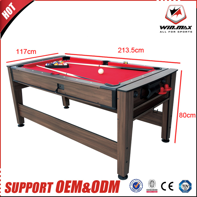 2017 newest high quality billiard table 7ft reversible 2-in-1 pool table and air hockey table