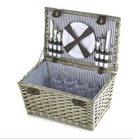 Small Strap Handmade Picnic Willow Wicker Fruit Rattan Wine Basket