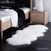 Graceful Long hair faux fur rug