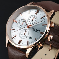 Relogios Masculino New Brand Watches Megir Luxury Men Fashion Watch Chronograph WM442