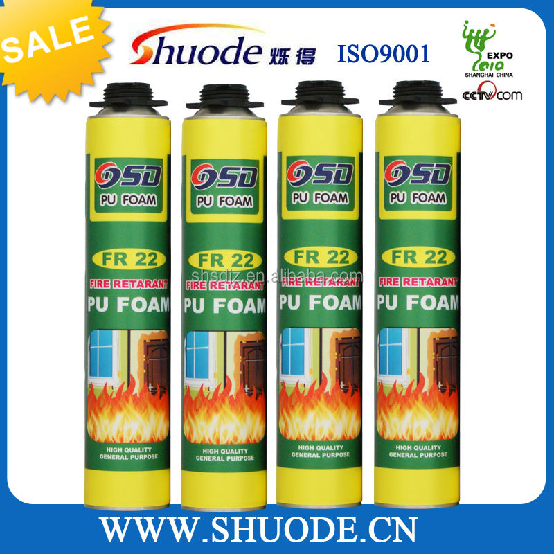 750ML FireProof spray high density pu foam concrete sealants
