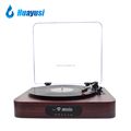 Portable Wooden 3 Speed FM Radio USB Bluetooth Vinyl LP Record Turntable For Sale