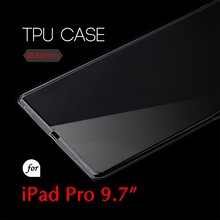 0.5mm Ultra Thin TPU Transparent Clear Protective Case for iPad Pro 9.7
