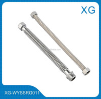 Bathroom water heater connect flexible corrugated hose for cold hot water inlet/Steel flexible corrugation hose for water heater