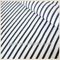 Soft Black White Stripe Linen Cotton Fabric for Bedding
