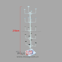 Rotatable metal multilevel hat stand display