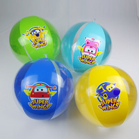 custom cartoon design inflatable beach ball 40CM diameter eco-friendly PVC