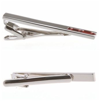 Best Choose Ine Red Sliver Pin Tie Bar Clip Crystal Set Cufflink &Tieclips