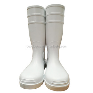 PVC safety rain boots for food industry,white safety rain boots,safety rain boots for food processing