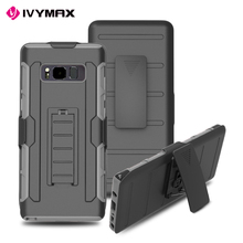 IVYMAX new arrival Premium hybrid case with kickstand and belt clip for Galaxy NOTE 8