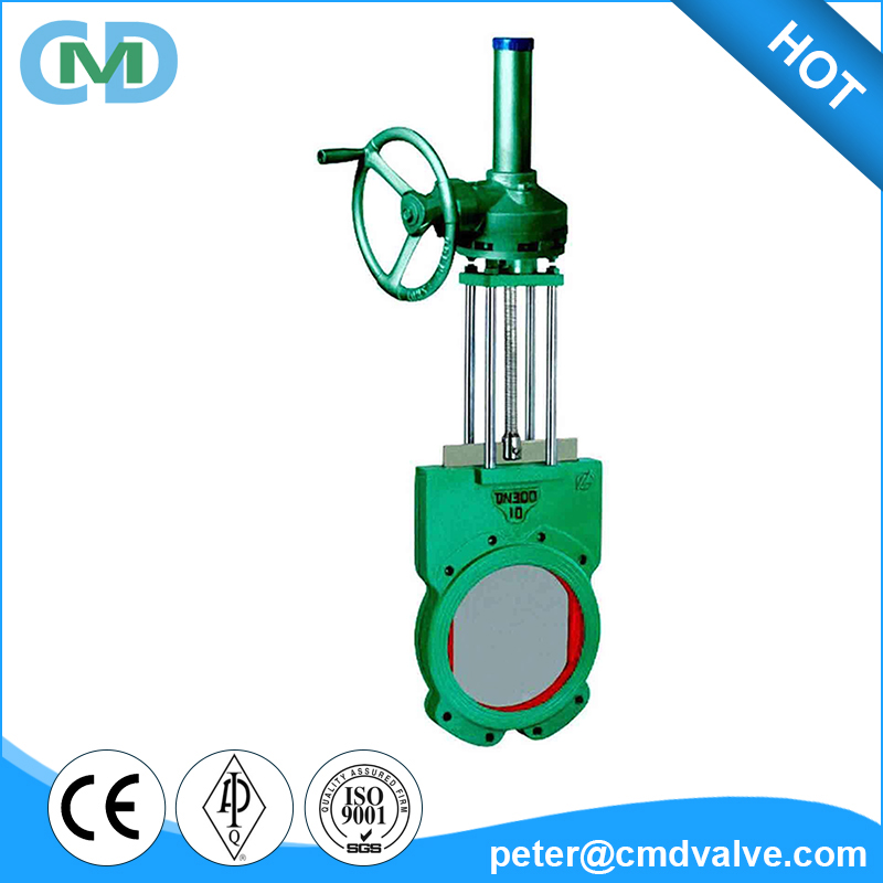 Split body Mine Cast Iron Ductile Iron Bevel Gear Sluice Slurry Knife Gate Valve with Price List