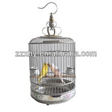 China Decortative Round Bird Cages Metal Bird Canary House Manufacture Wholesale